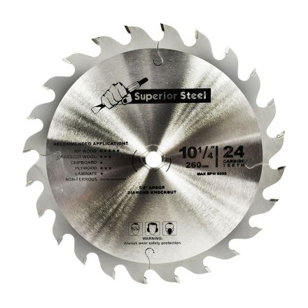 Superior Steel 25033 10-1/4 Inch x 24 Teeth Framing Circular Saw Blade