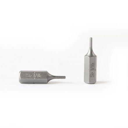 Superior Steel BH106-10PK Single End Hexagonal Screwdriver Bits - 1 Inch Long - 1/16 Hex - 10 Display Pack