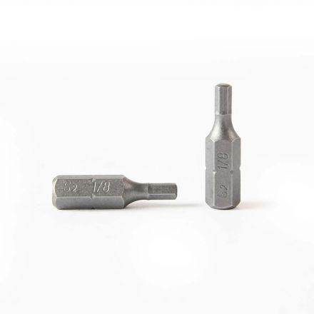 Superior Steel BH110-50PK Single End Hexagonal Screwdriver Bits - 1 Inch Long - 1/8 Hex - 50 Display Pack