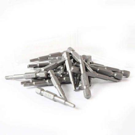 Superior Steel BH203-25PK Single End Hexagonal Screwdriver Bits - 2 Inch Long - 3mm Hex - 25 Display Pack