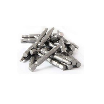 Superior Steel BSQ202-25PK 2# Square Recess Screwdriver Bits - 2 Inch Long - 25 Display Pack