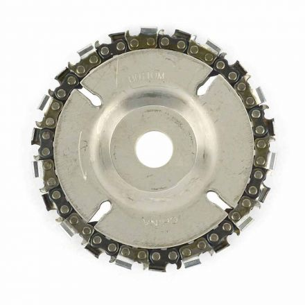"Superior Steel SS458 EZ install 4"" 22 Tooth Fine Cut Grinder Disc and Chain - 5/8"" Arbor"