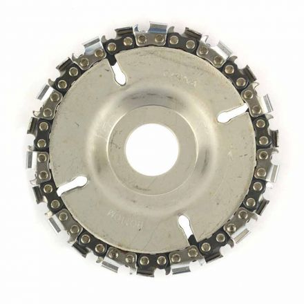 """Superior Steel SS478 EZ Install 22 Tooth 4""""  Fine Cut Grinder Disc and Chain - 7/8"""" Arbor"""