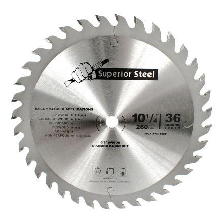 Superior Steel 25034 10-1/4 Inch x 36 Teeth Framing Circular Saw Blade