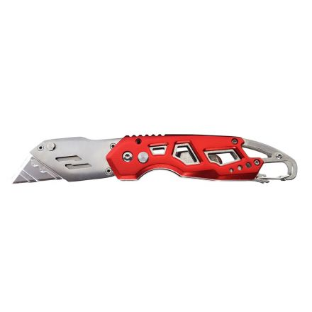 Superior Steel UK750 Folding Utility Pocket Knife Box Cutter with Belt Clip, Easy Release Button, Quick Change and Lock-Back Design